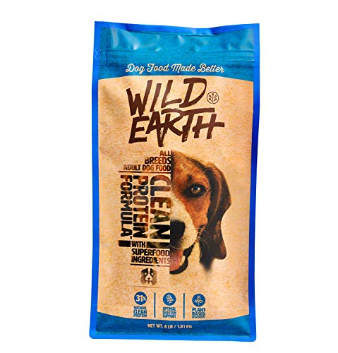 Wild Earth Healthy High-Protein Formula Dry Dog Food with No Filler Ingredients, Veterinarian-Developed Vegan Pet Food…