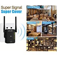 Wifi Range Extender Repeater,Wavlink N300 Universal Router Wireless Access Point Wireless Signal Booster with 2 External Antenna