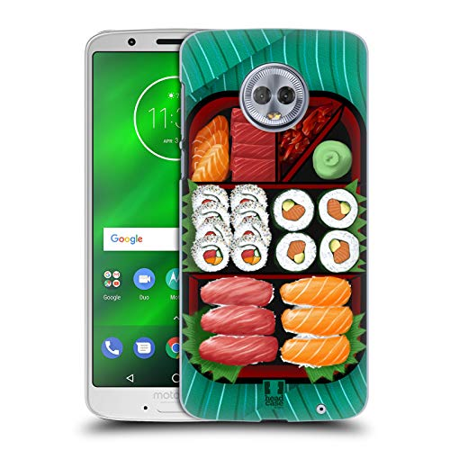 - Head Case Designs Sushi Sampler Oriental Food Hard Back Case Compatible for Motorola Moto G6 Plus