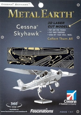 Metal Earth MMS045 - Fascinations, Cessna 172 Skyhawk, Konstruktionsspielzeug