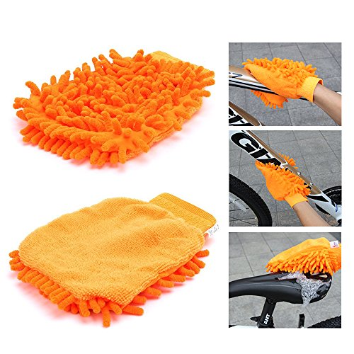 Bike Cleaning Tool Set, 6Pieces Precision Bicycle Cleaning Tool Tarpered Detail Brush Wheel Brush Scraper Bike clean mitt Tire Scrubber Multipurpose Practical and portable for Mountain,BMX Bike by Multi Outools (Image #1)
