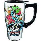 Spoontiques Justice League Ceramic Travel Mug, 16 ounces, White
