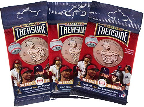 Baseball Treasure 2018 Collectible Baseball Trading Coins 3 Pack Bundle - MLB Photomints and Coins by Sports...