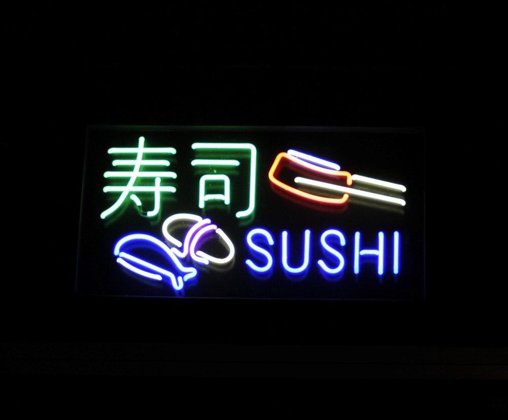 LiQi【Sushi 寿司】ネオン 看板 NEON SIGN (縦35cmX横45cm)   B0721Q2RNW
