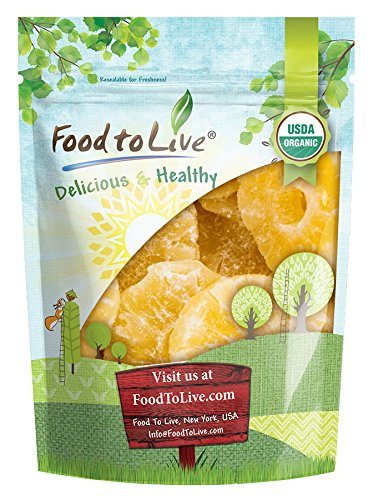 Food to Live Certified Organic Dried Pineapple (Non-GMO, Bulk, Unsweetened, Ring, Chunks, Slices)