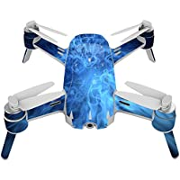 Skin For Yuneec Breeze 4K Drone – Blue Mystic Flames | MightySkins Protective, Durable, and Unique Vinyl Decal wrap cover | Easy To Apply, Remove, and Change Styles | Made in the USA