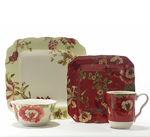 222 Fifth Lutece 16 Piece Dinnerware Set