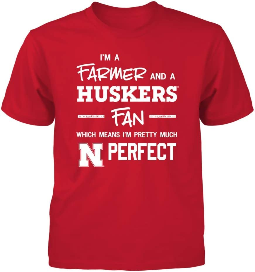 FanPrint Nebraska Cornhuskers T-Shirt Perfect FarmerFan T-Shirt Tank