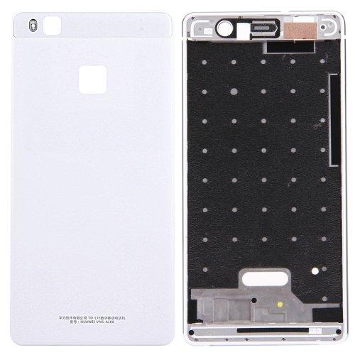 Wblue Battery Back Cover + Front Housing LCD Frame Bezel Plate for Huawei P9 Lite (White) ()