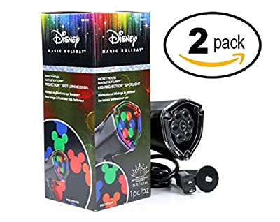 Disney Mickey Mouse Ears LightShow Swirling Multicolor LED Christmas Spotlight Projector (2)