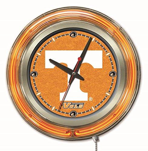 Holland Bar Stool Company NCAA Tennessee Volunteers Double Neon Ring 15-Inch Diameter Logo Clock