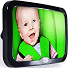 Best Baby Car Mirror - Attaches to Back Seat - Crystal Clear Reflection - Perfect for Rear Facing Infants - 100% Safe & Completely Shatterproof - Adjustable - Compatible with All Cars, Autos, & SUVs