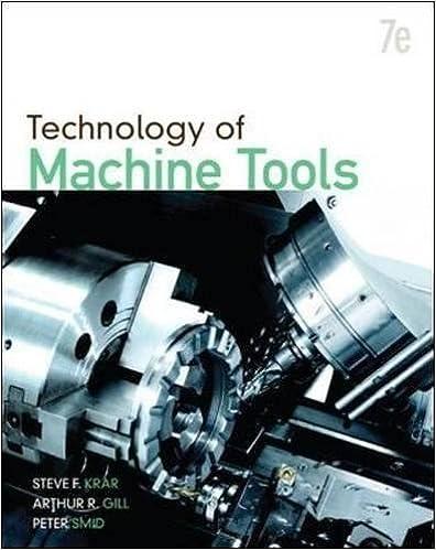 Technology Of Machine Tools Steve F Krar Arthur R Gill Peter