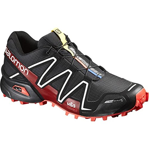 Salomon Spikecross 3 CS Trail Running Shoe - Men's Black/Radiant Red/White, 9.5
