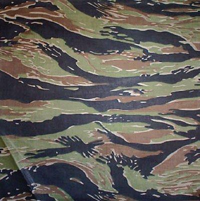Rothco Bandana, Tiger Stripe Camouflage, 27'' x 27''