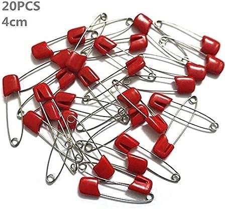 Sicherheitsnadeln f/ür Stoffwindeln oder Handarbeiten 50 St/ück, mehrfarbig, 4 cm Baby-Windeln biggroup Sicherheitsnadeln mit Kunststoffkopf