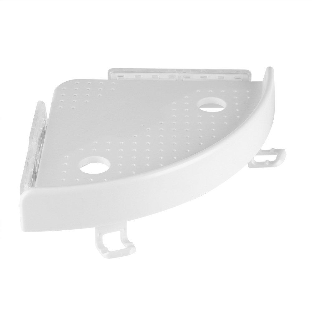 Etagère angolare per doccia e da cucina, con ganci cestino portaoggetti, Tablet ad angolo in ABS, ideale per bagno, cucina/Argento. Acogedor