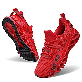 Wonesion Mens Athletic Running Outdoor Shoes Blade Gym Workout Jogging Sneakers