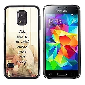 FlareStar Colour Printing Happy Love Motivational Artist Paint cáscara Funda Case Caso de plástico para Samsung Galaxy S5 Mini / Galaxy S5 Mini Duos / SM-G800 !!!NOT S5 REGULAR!
