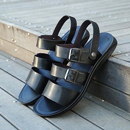 ZHNAGJIA Männer Sandalen, Neue Sommer Strand Hausschuhe, Casual Schuhe der Koreanischen Männern, 38, 551, Schwarz