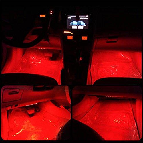 onepalace 4pcs car led interior underdash lighting kit led car interior light auto interior. Black Bedroom Furniture Sets. Home Design Ideas