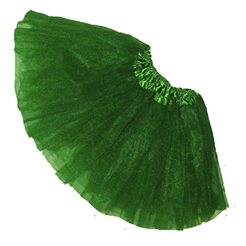 [Girls Plus Size Ballet Tutu-Waist 20-44-Length 11-12-by Southern Wrag Company (Kelly Green)] (Holiday Recital Costumes)