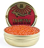 LIMITED TIME OFFER! Caspian Tradition RUSSIAN Style TSARITSA FRESH Salmon Malossol CAVIAR 8oz tin