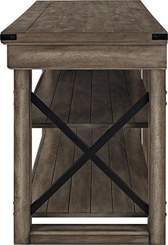 "Ameriwood Home Wildwood Wood Veneer TV Stand for TVs up to 50"", Rustic Gray"
