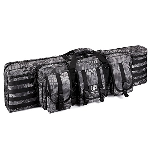 Barbarians Tactical Rifle Bag Case, 42 Inch Molle Rifle Bag Backpack Black Python