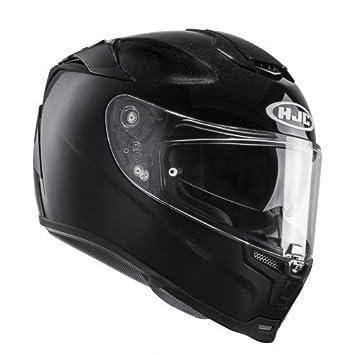 HJC 14303009 Casco de Moto, Negro Metal, Talla L