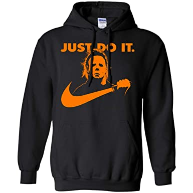 05dc4b2c Amazon.com: Funny No Lives Matter Just Do It Michael Myers Hoodie ...