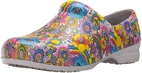 - Easy Works Women's Kris Health Care Professional Shoe, Bright Multi Fabric, 10 M US