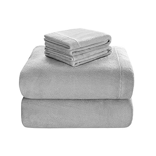 JLA Home True North by Sleep Philosophy Soloft Plush King-size 4-piece Sheet Set