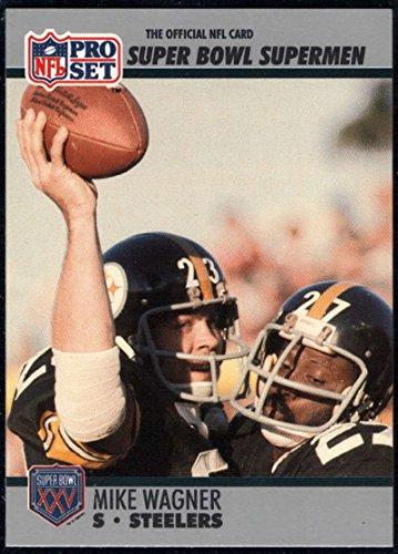 - Football NFL 1990-91 Pro Set Super Bowl 160 #114 Mike Wagner NM-MT Steelers