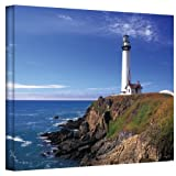 ArtWall Pigeon Point Lighthouse Gallery Wrapped Canvas by Kathy Yates, 24 by 36-Inch