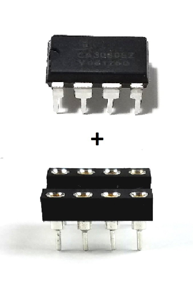 Intersil CA3080EZ + Sockets - Operational-Transconductance Amplifier (Pack of 5)