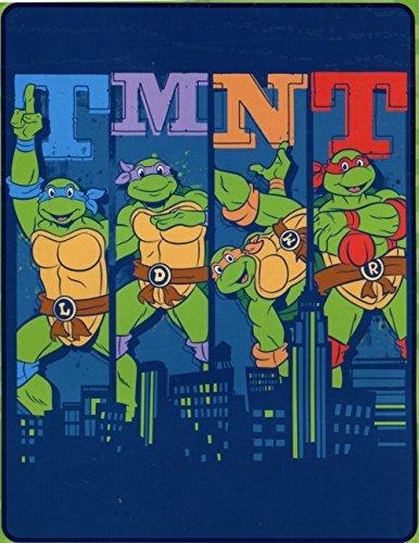 Northwest Enterprises Teenage Mutant Ninja Turtles Silk Touch Throw - 40'' by 50'' - Cowabunga City Ninja!
