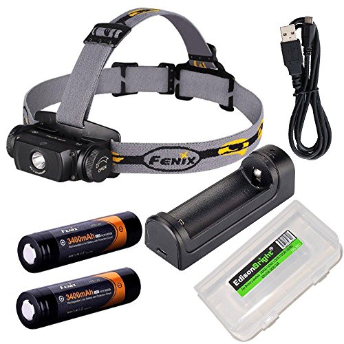 Headlamp battery rechargeable batteries EdisonBright