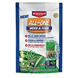 BioAdvanced All-in-One Weed & Feed with Microfeed Action, 12 Lb, 5000 sq. ft, White
