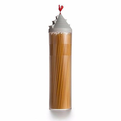 フタを開けるだけでさっと必要な量が取り出せる。手間なし簡単スパゲティータワー