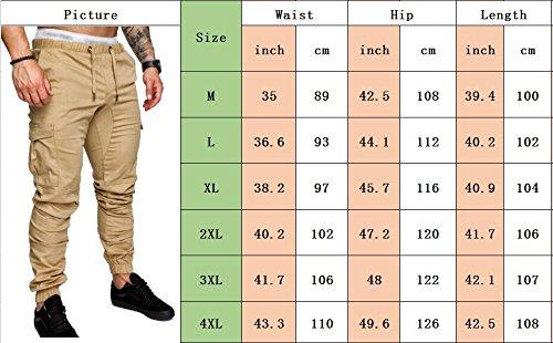 In Cintura Cotone Elastica Sportivo Lavoro Forti Activewear Verde Lungo Pantalone Da Jogging Uomo Sportivi Pantaloni Somthron Taglie Con Pantaloncini Wq5tIO