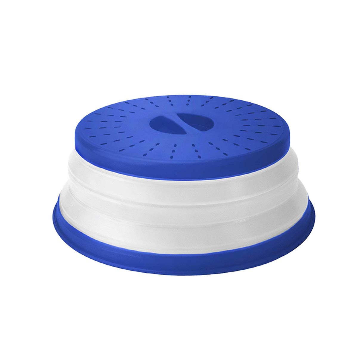 ANTEER Tapa Microondas Plegable con Ventilación Plastico 26cm Sin BPA, Easy Grip Tapa de Comida para Microondas Libre, Azul