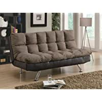 300306 Plush Two Tone Microfiber Sofa Bed by Coaster Co.