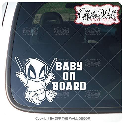 Deadpool Baby on Board Bumper Sticker Decal Baby Deadpool On Board Sticker