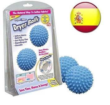 Bolas magicas DRYER BALLS para lavadora, seca y suaviza la ropa sin usar quimicos: Amazon.es: Hogar