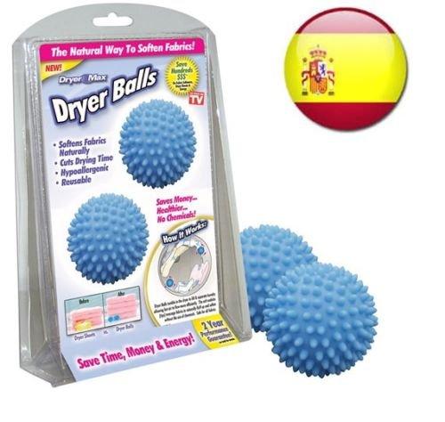 Bolas magicas DRYER BALLS para lavadora, seca y suaviza la ropa ...