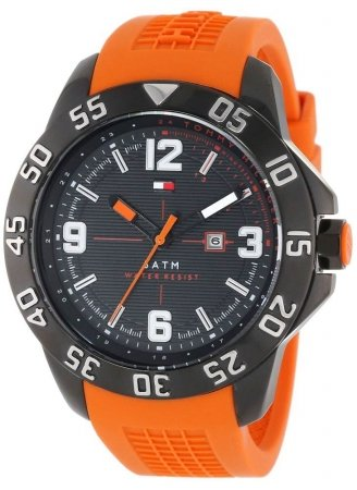 tommy-hilfiger-mens-1790985-cool-sport-black-ion-plated-watch-with-orange-silicone-band