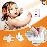 Image of Childproof Safety Electrical Plug Covers Outlet Cap Key and Cover as a Whole - 12 Count White