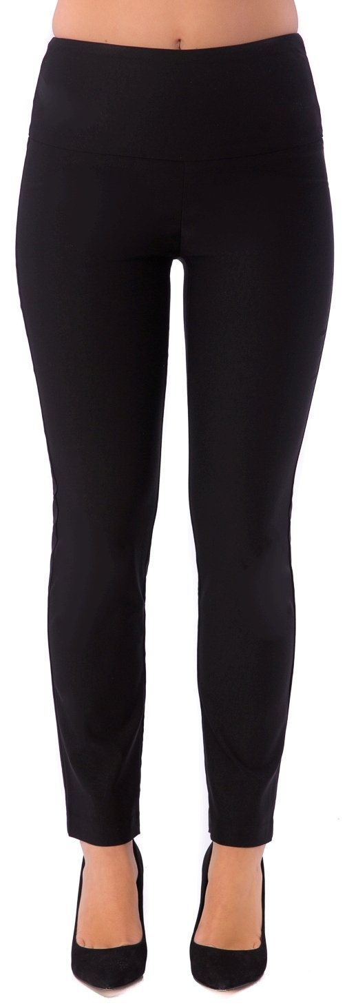 UP! Pants UP Womens Slim Ankle Flatten and Flatter Style 64457 Illusion Waistband Size 2 Color Black by UP! Pants (Image #2)