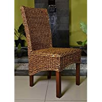 International Caravan SG-3302-1CH-IC Furniture Piece Gaby Woven Banana Dining Chair